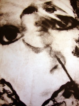 """Portrait Zoe"" Solar plate etching by Louise Garman Manchester Artist"