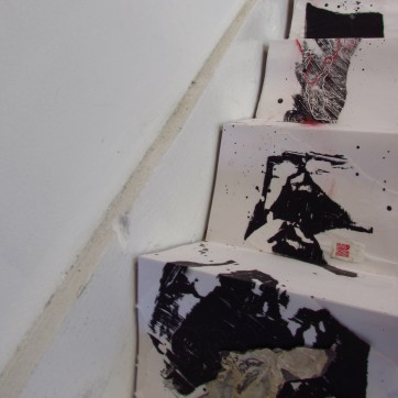 """""""Falling"""" Site Specific Photography Installation by Louise Garman Manchester Artist"""