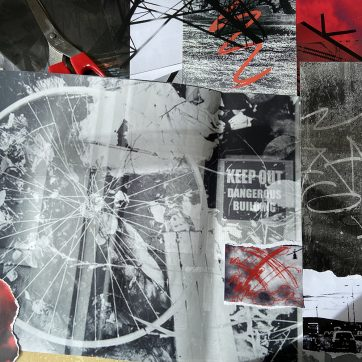 """""""Discarded"""" Lockdown Photography Collage by Louise Garman Manchester Artist"""
