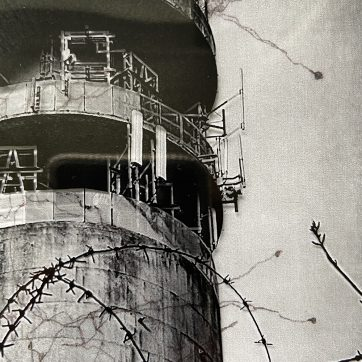 """""""Heaton Park Telecommunications Tower"""" Lockdown Photography and Drawing by Louise Garman Manchester Artist"""