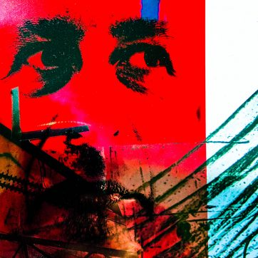 """""""Portrait"""" Lockdown Photography, Drawing and Collage by Louise Garman Manchester Artist"""